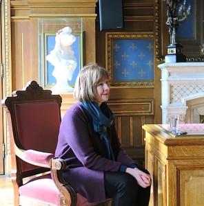 Posy Simmonds at City Hall Angoulême.