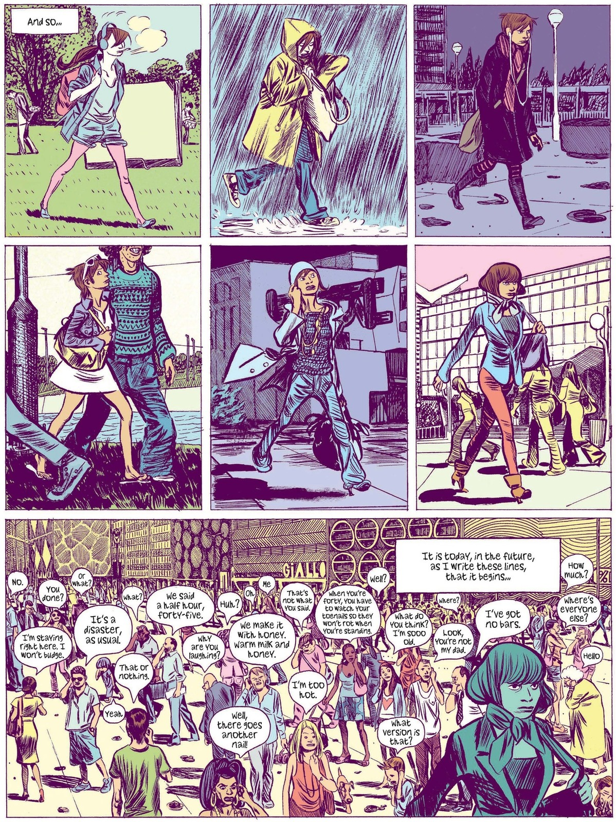 Excerpt from the one-shot 'Dark Side of the Moon,' Europe Comics 2017 ('Lune l'envers,' Dargaud, 2014)