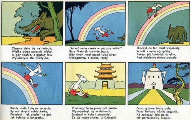 'Przygody Koziołka Matołka' (The Adventures of Goat Matolka, 1932), by Walentynowicz and Makuszyński.