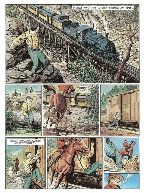 'La branche Lincoln,' illustrated by Piotr Kowalski (Le Lombard 2006).