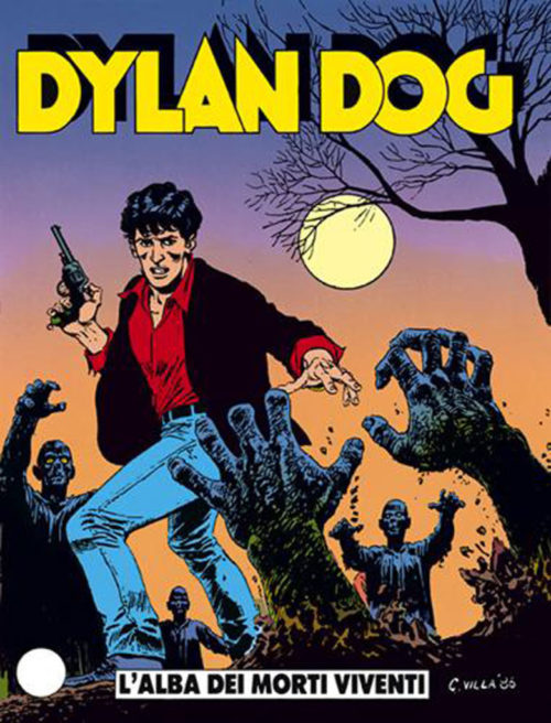 "The first issue of the supernatural series ""Dylan Dog"" (© Sergio Bonelli Editore, 1986)."