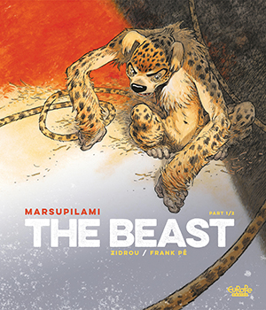 Comicbook cover marsupilami the beast imaginary animal, Franco-Belgian Classic