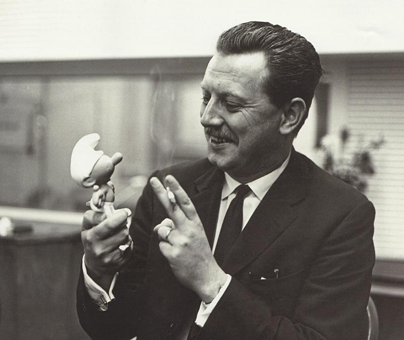 """Pierre """"Peyo"""" Culliford around 1960."""