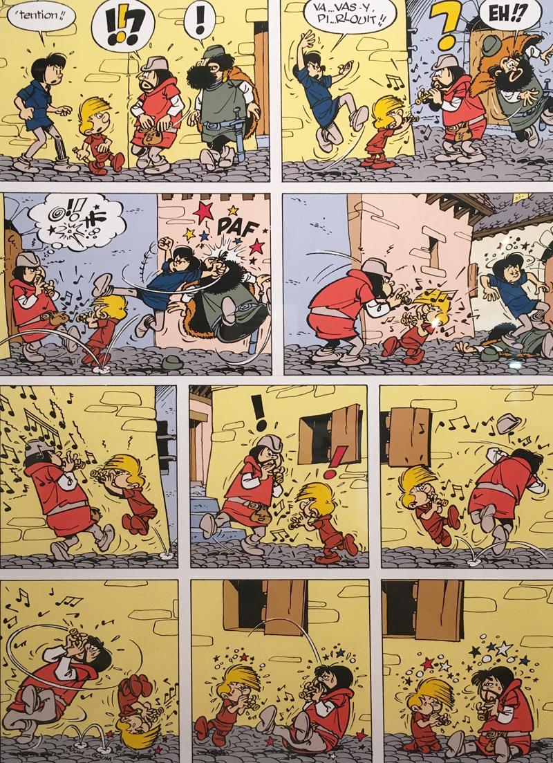"""""""La Flute à Six Schtoumpfs,"""" 1958 (© Dupuis)."""