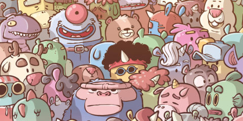 loonicorns comic book graphic novel by ced, Gorobei & waltch