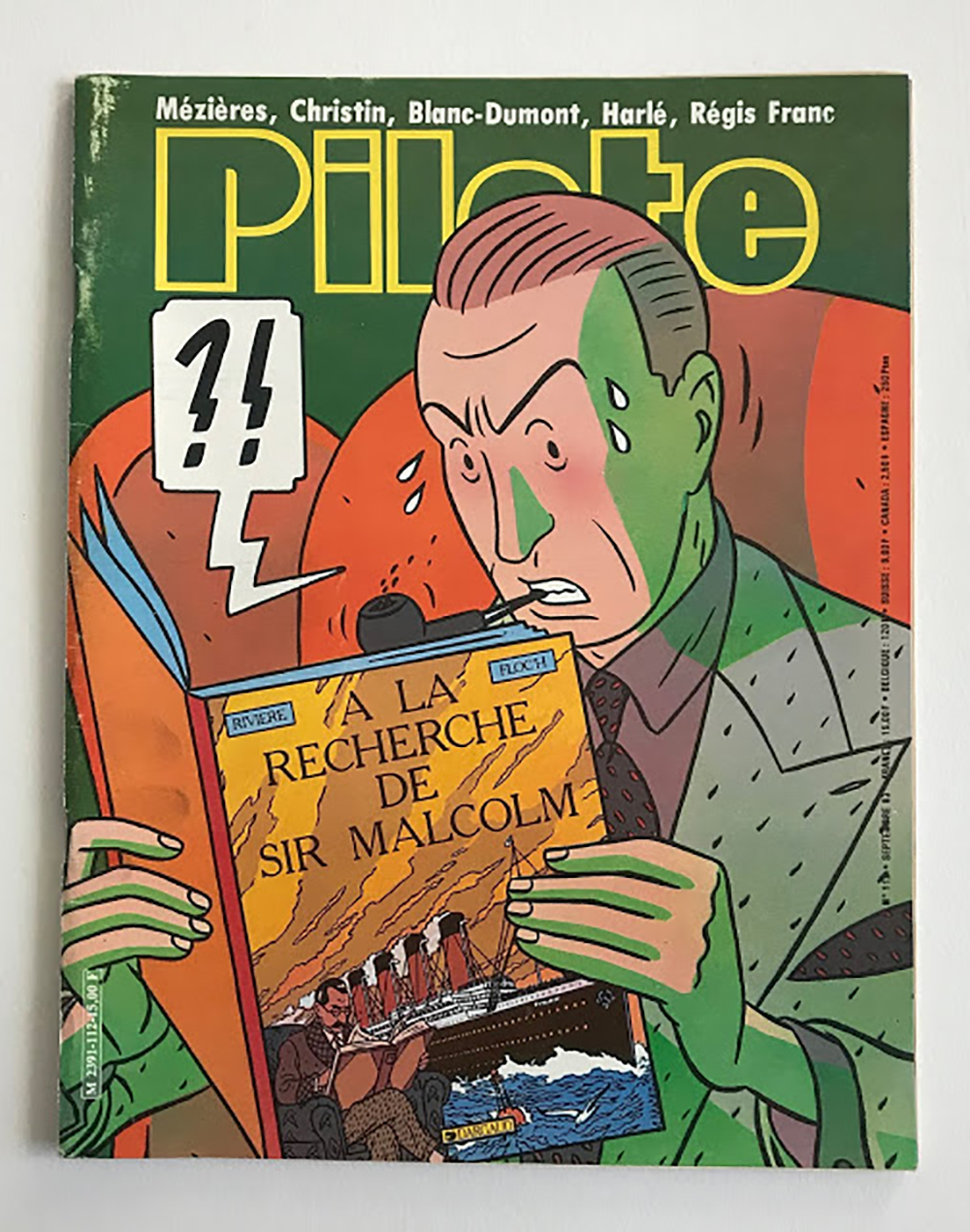 Pilote Magazine Cover Floc'h Albany and Sturgess